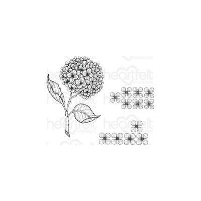 Heartfelt Creations Cling Rubber Stamp Set Cottage Garden -Cottage Garden Hydrangea