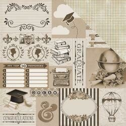 "Authentique Accolade Double-Sided Cardstock 12""X12"" #10"