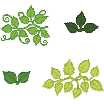 Heartfelt Creations Cut & Emboss Dies Leafy Accents
