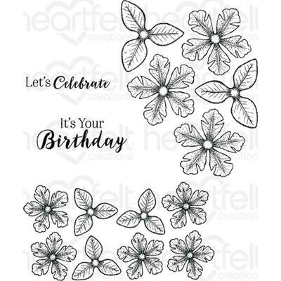 Heartfelt Creations Cling Rubber Stamp Set Small Classic Petunia