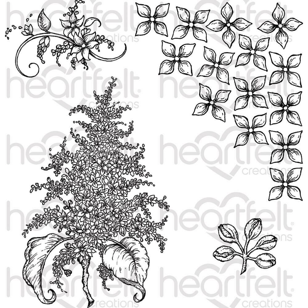 "Heartfelt Creations Cling Rubber Stamp Set 5""X6.5"" Lush Lilac"
