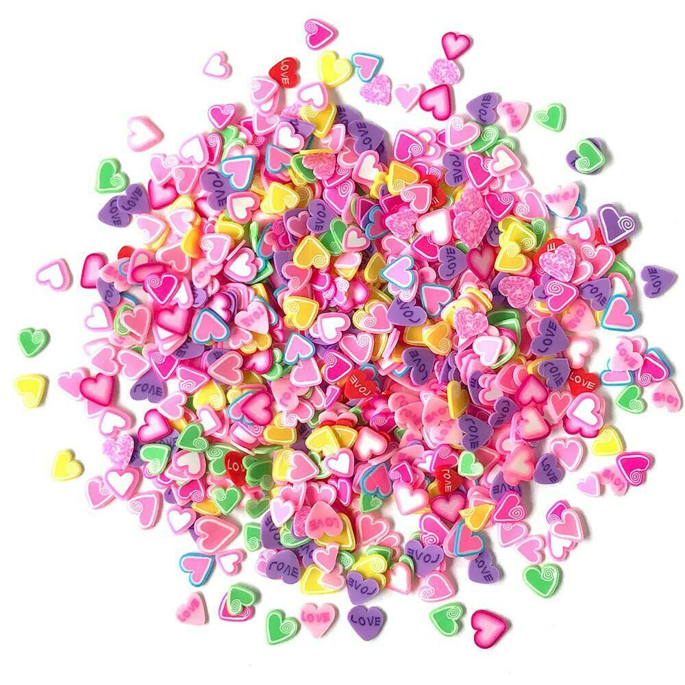 Buttons Galore Sprinkletz Embellishments 12g Candy Hearts