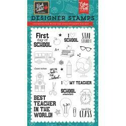 """Echo Park Stamps 4""""X6"""" Back To School, Star Student"""