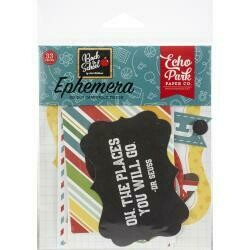 Echo Park Cardstock Ephemera 33/Pkg Icons, Back To School
