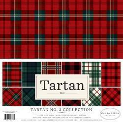 "Carta Bella Double-Sided Collection Kit 12""X12"" 12/Pkg Tartan No. 2, 6 Colors/2 Each"