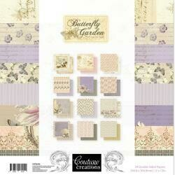 """Couture Creations Double-Sided Paper Pad 12""""X12"""" 24/Pkg Butterfly Garden, 12 Designs/2 Each"""