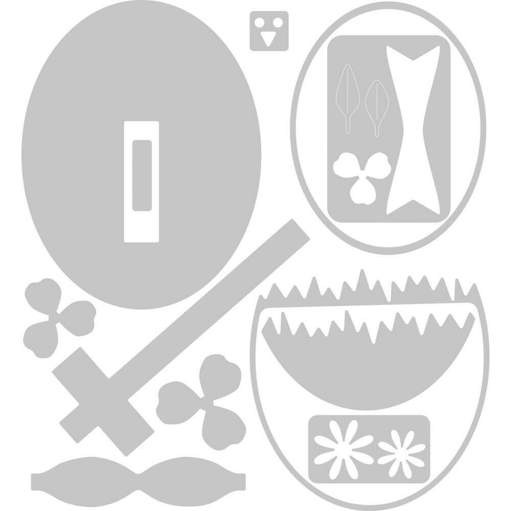 Sizzix Thinlits Dies By Georgie Evans 12/Pkg Hatching Egg