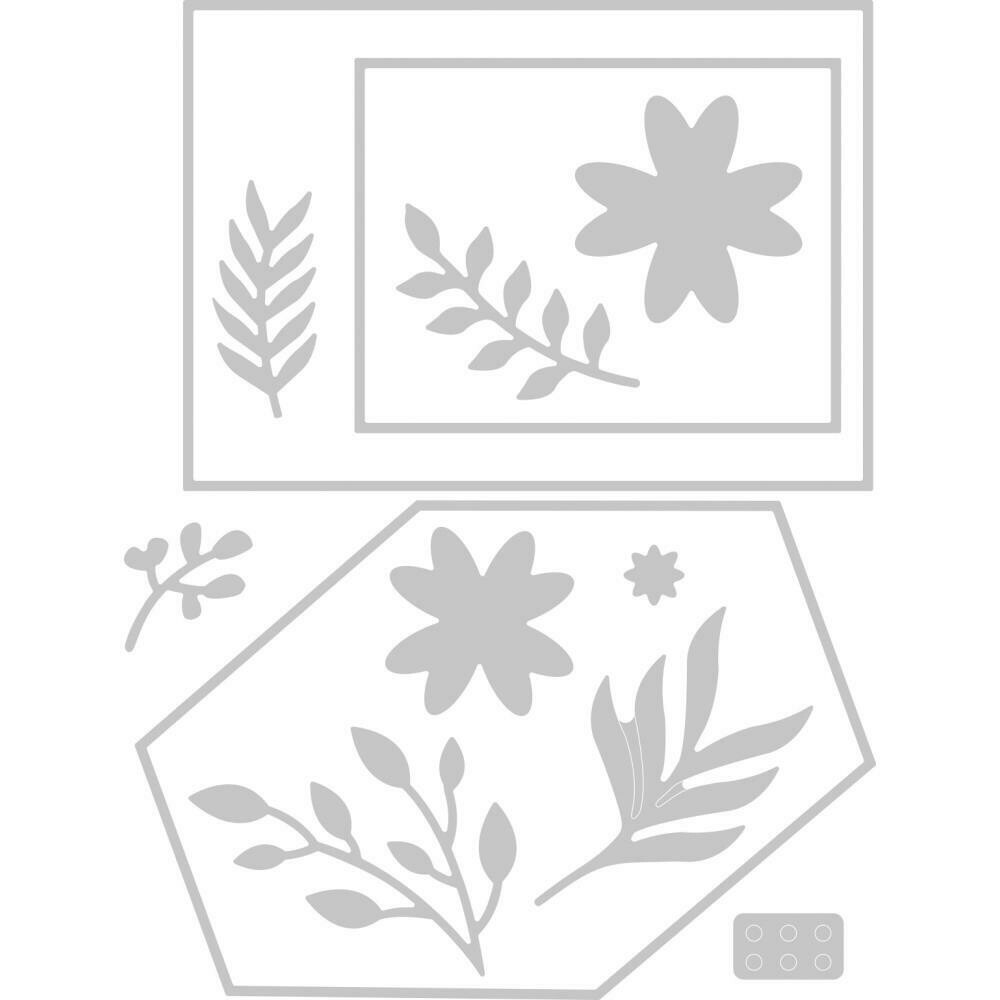 Sizzix Thinlits Dies By Lisa Jones 12/Pkg Geo Floral Frame