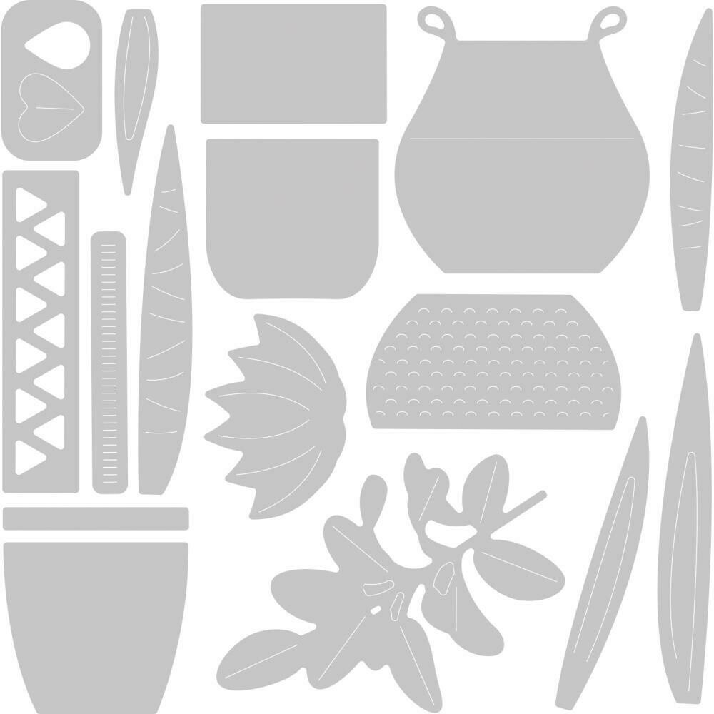 Sizzix Thinlits Dies By Jennifer Ogborn 16/Pkg Dimensional Botanicals