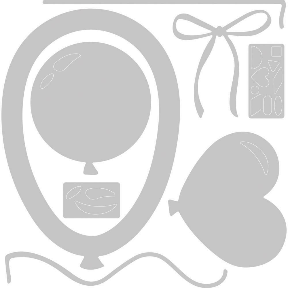 Sizzix Thinlits Dies By Jessica Scott 8/Pkg Balloon