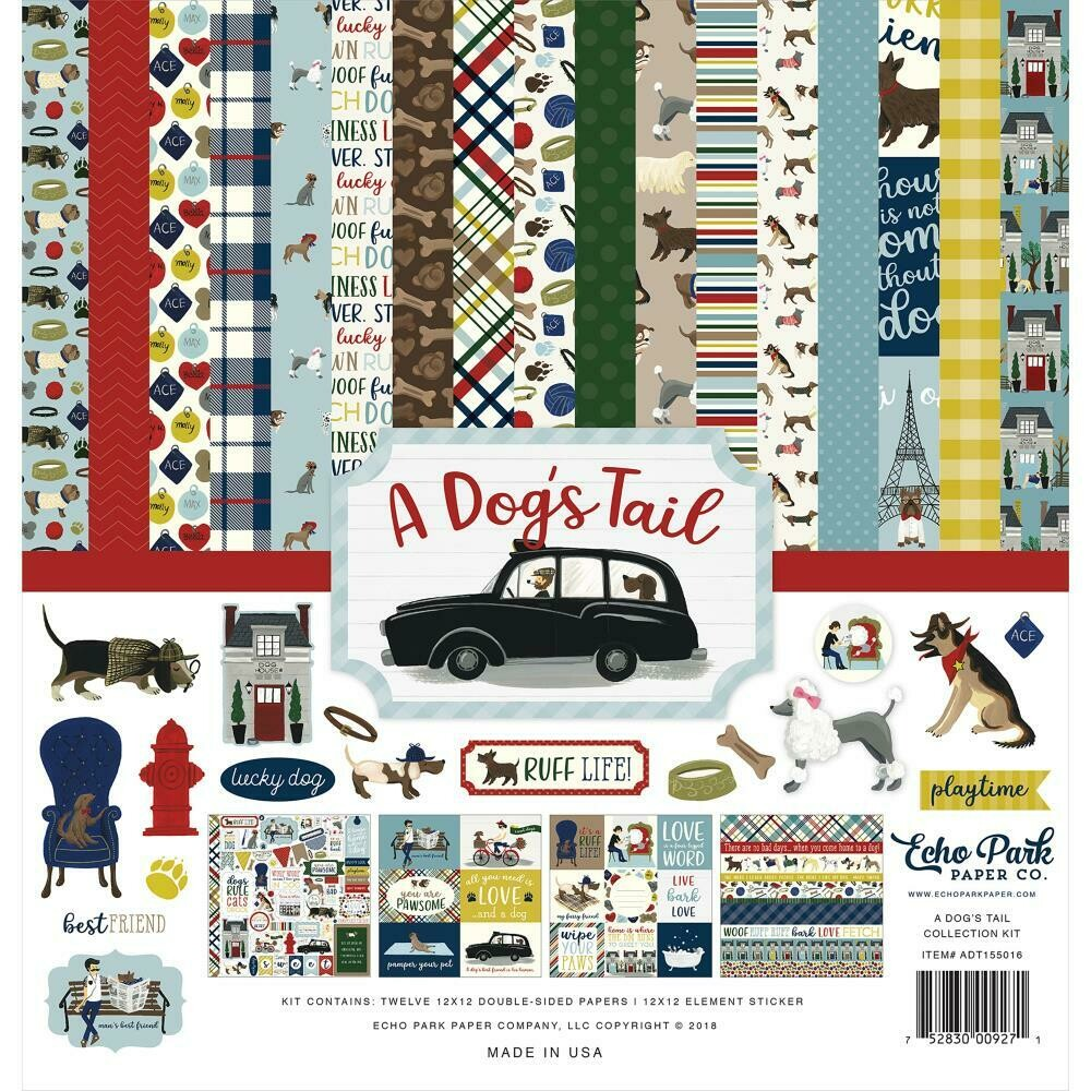 """Echo Park Collection Kit 12""""X12"""" A Dog's Tail"""