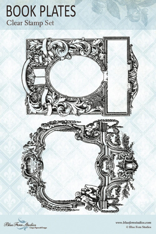 Bluefern Crafts Stamp - Book Plates