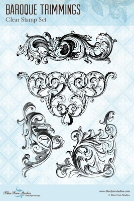Blue FernA Romantic Life - Stamp - Baroque Trimmings