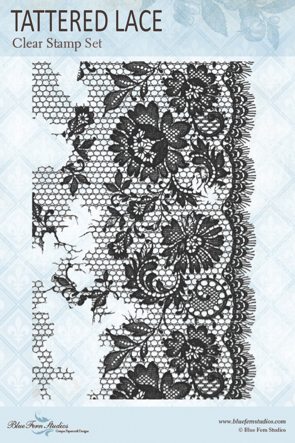 Bluefern Crafts Jane's Memoirs collection Stamp - Tattered Lace