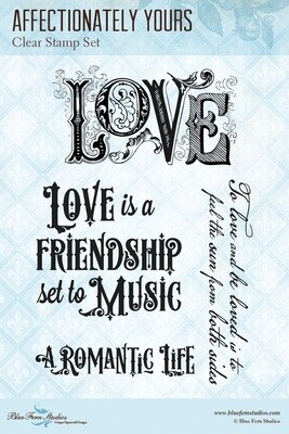 Blue Fern A Romantic Life - Stamp - Affectionately Yours