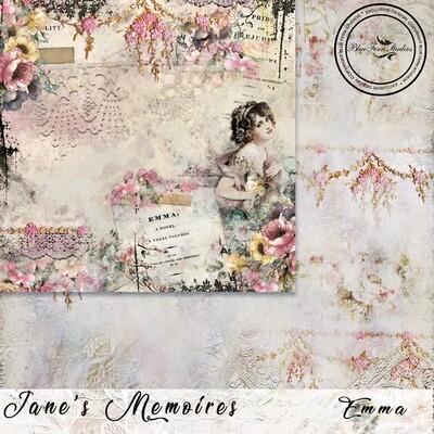 Bluefern Crafts 12 x 12 paper -  Jane's Memoirs - Emma