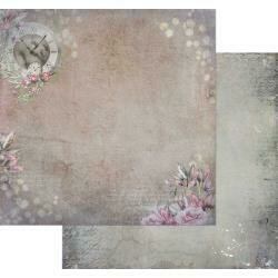 """49 and Market Tattered Garden Double-Sided Cardstock 12""""X12"""" Tattered Clock"""