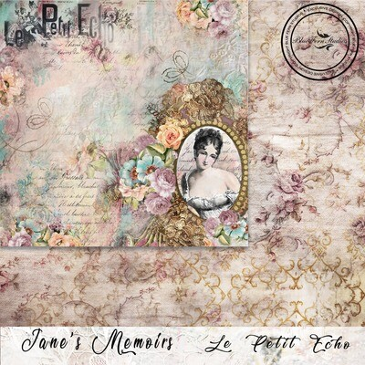 Bluefern Crafts 12 x 12 paper -  Jane's Memoirs - Le Petit Echo