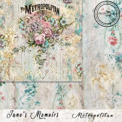 Bluefern Crafts 12 x 12 paper -   Jane's Memoirs - Metropolitan