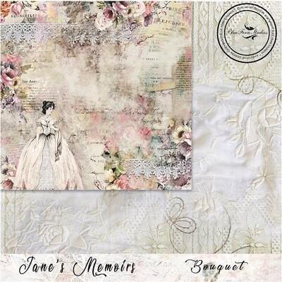 Bluefern Crafts 12 x 12 paper - Jane's Memoirs - Bouquet