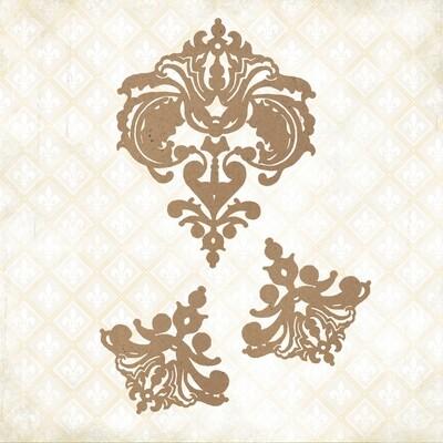 Jane's Memoirs - Chipboard - Fanciful Linen