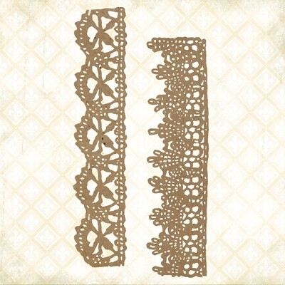 Jane's Memoirs - Chipboard - Chantilly Lace Borders