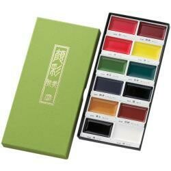Kuretake Gansai Tambi 12 Color Set Assorted Colors