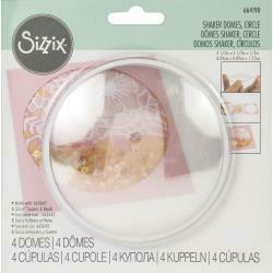 "Sizzix Making Essential Shaker Domes Circle 3.5"", 4/Pkg"
