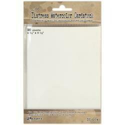 "Tim Holtz Distress Watercolor Cardstock 20/Pkg 4.25""X5.5"""