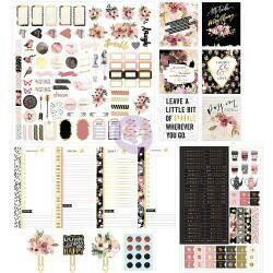 My Prima Planner Insert & Embellishments Kit Midnight Bloom