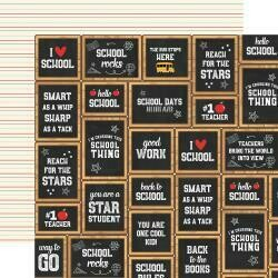 """Back To School Double-Sided Cardstock 12""""X12"""" Chalkboard Cards"""
