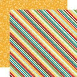 """Back To School Double-Sided Cardstock 12""""X12"""" School Stripes"""