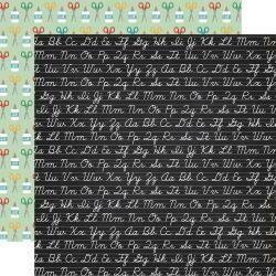"Back To School Double-Sided Cardstock 12""X12"" Chalkboard Cursive"