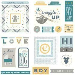 Snuggle Up Boy Ephemera Cardstock Die-Cuts
