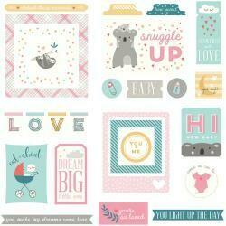 PhotoPlay Snuggle Up Girl Ephemera Cardstock Die-Cuts