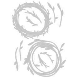 Sizzix Thinlits Dies By Tim Holtz Funky Wreath