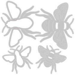 Sizzix Thinlits Dies By Lisa Jones 4/Pkg Bee