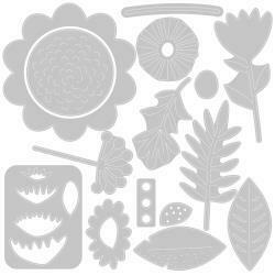 Sizzix Thinlits Dies By Sophie Guilar 15/Pkg Floral Tropics