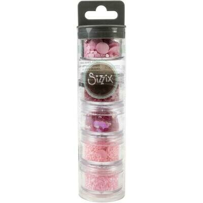 Sizzix Making Essential Sequins & Beads 5/Pkg Primrose, 5g Per Pot