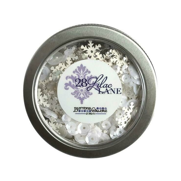 Buttons Galore Blizzard Sequin Tin