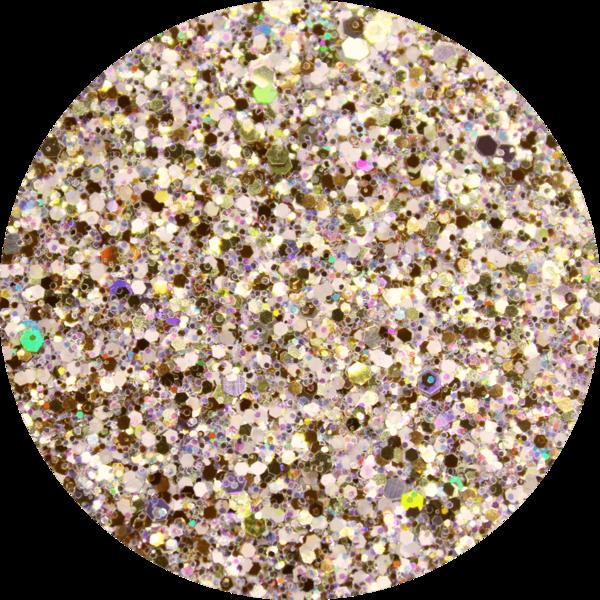 Glitter solvent resistant glitter - Candlelight