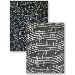"Spellbinders M-Bossabilities 5""X7"" Card Embossing Folder Music"
