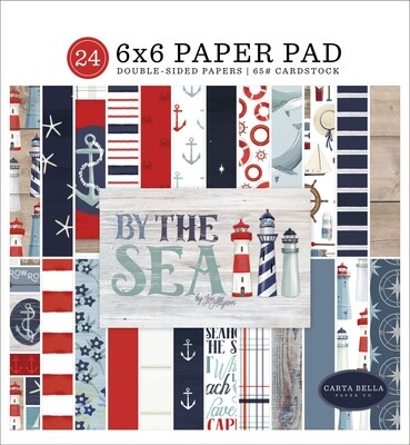 Carta Bella Double-Sided Paper Pad 6X6 24/Pkg By The Sea, 12 Designs/2 Each