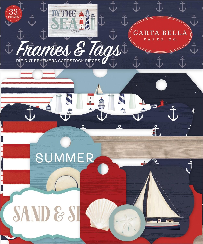 Carta Bella Cardstock Ephemera 33/Pkg Frames & Tags, By The Sea