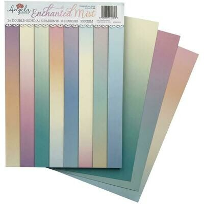 Angela Poole Gradients A4 Cardstock Pack Enchanted Mist