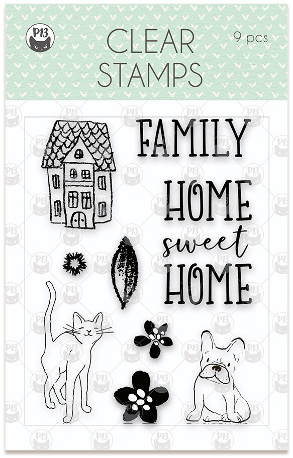 P13 Clear Stamp, We Are Family 01