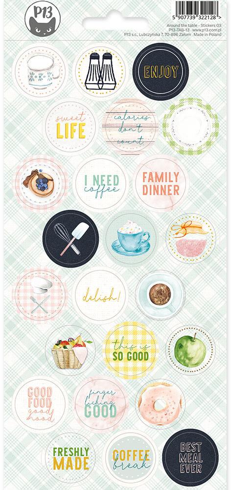 P13 Sticker Sheet, Around the Table 03