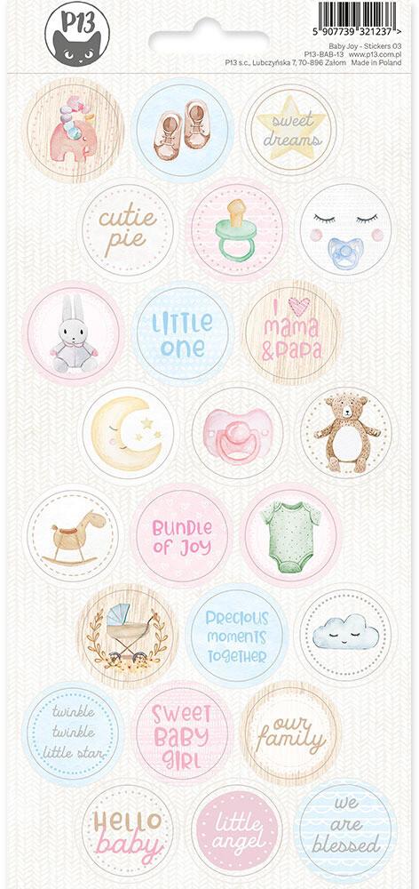 P13 Sticker Sheet, Baby Joy 03