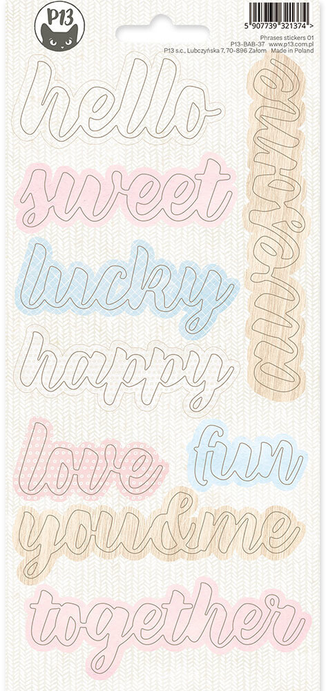 P13 Phrase Sticker Sheet, Baby Joy 01