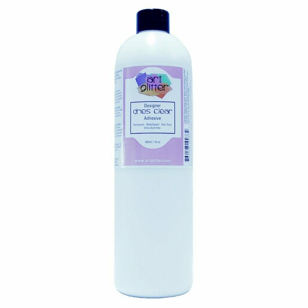 Art Glitter Dries Clear Adhesive 16oz Bottle